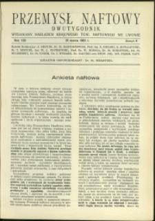 Przemysł Naftowy : 1933 : nr 6