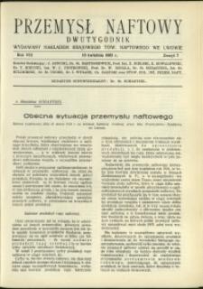 Przemysł Naftowy : 1933 : nr 7