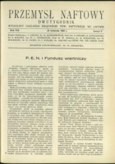 Przemysł Naftowy : 1933 : nr 8