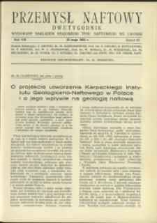 Przemysł Naftowy : 1933 : nr 10
