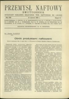 Przemysł Naftowy : 1933 : nr 11