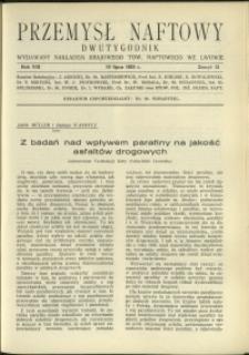 Przemysł Naftowy : 1933 : nr 13
