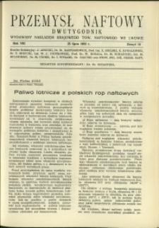 Przemysł Naftowy : 1933 : nr 14