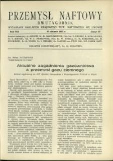 Przemysł Naftowy : 1933 : nr 15