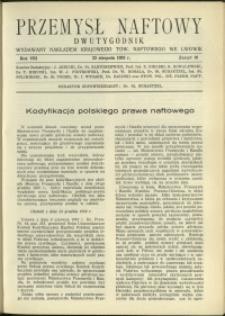 Przemysł Naftowy : 1933 : nr 16