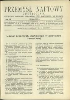 Przemysł Naftowy : 1933 : nr 18