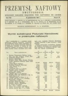 Przemysł Naftowy : 1933 : nr 19