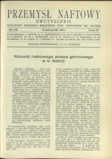 Przemysł Naftowy : 1933 : nr 20