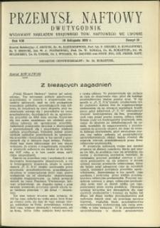 Przemysł Naftowy : 1933 : nr 21