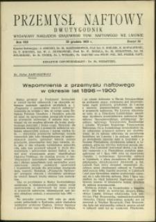 Przemysł Naftowy : 1933 : nr 24