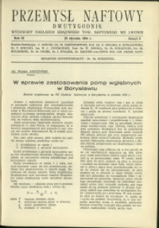 Przemysł Naftowy : 1934 : nr 2