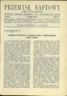 Przemysł Naftowy : 1934 : nr 4