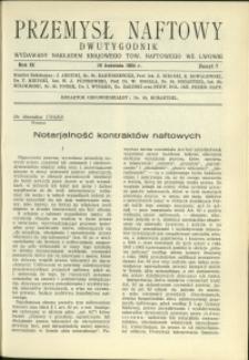 Przemysł Naftowy : 1934 : nr 7