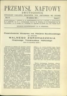 Przemysł Naftowy : 1934 : nr 8