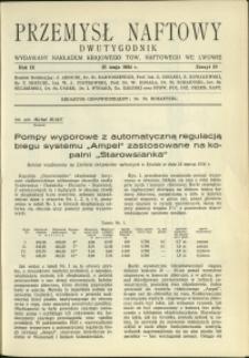 Przemysł Naftowy : 1934 : nr 10