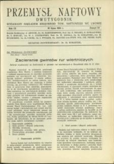 Przemysł Naftowy : 1934 : nr 13