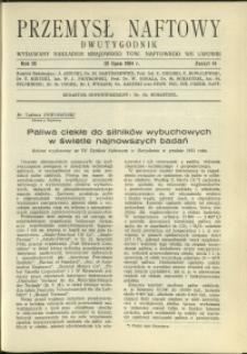 Przemysł Naftowy : 1934 : nr 14