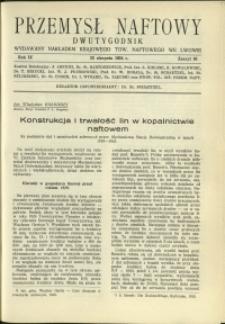 Przemysł Naftowy : 1934 : nr 16