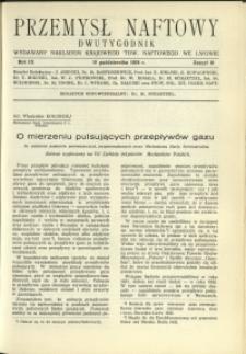 Przemysł Naftowy : 1934 : nr 19