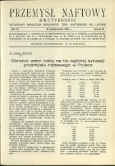 Przemysł Naftowy : 1934 : nr 20