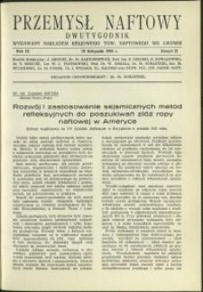 Przemysł Naftowy : 1934 : nr 21