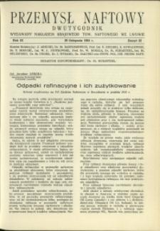 Przemysł Naftowy : 1934 : nr 22