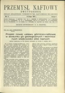 Przemysł Naftowy : 1935 : nr 3