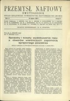 Przemysł Naftowy : 1935 : nr 5