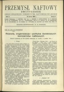 Przemysł Naftowy : 1935 : nr 6