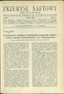 Przemysł Naftowy : 1935 : nr 9