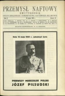 Przemysł Naftowy : 1935 : nr 10