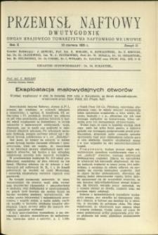 Przemysł Naftowy : 1935 : nr 11
