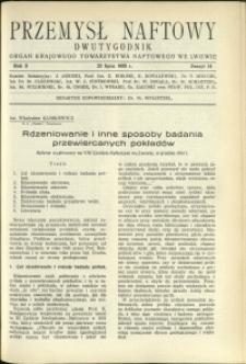 Przemysł Naftowy : 1935 : nr 14