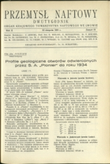 Przemysł Naftowy : 1935 : nr 15