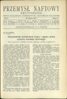 Przemysł Naftowy : 1935 : nr 16