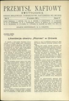 Przemysł Naftowy : 1935 : nr 17