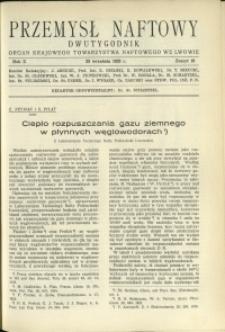 Przemysł Naftowy : 1935 : nr 18
