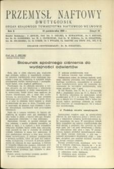Przemysł Naftowy : 1935 : nr 19
