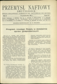 Przemysł Naftowy : 1935 : nr 20