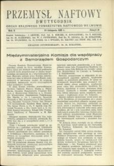 Przemysł Naftowy : 1935 : nr 21