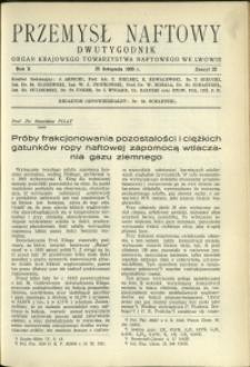 Przemysł Naftowy : 1935 : nr 22
