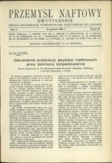 Przemysł Naftowy : 1935 : nr 24