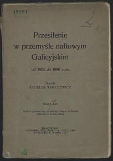 Przesilenie w przemyśle naftowym Galicyjskim od 1902 do 1906 roku