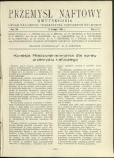 Przemysł Naftowy : 1936 : nr 3