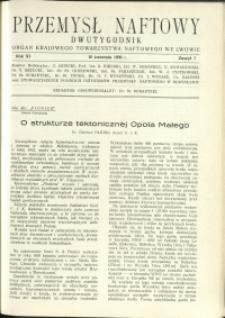 Przemysł Naftowy : 1936 : nr 7