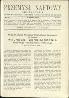 Przemysł Naftowy : 1936 : nr 8