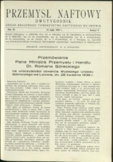 Przemysł Naftowy : 1936 : nr 9