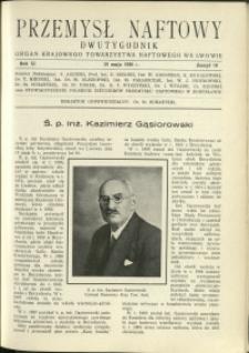 Przemysł Naftowy : 1936 : nr 10