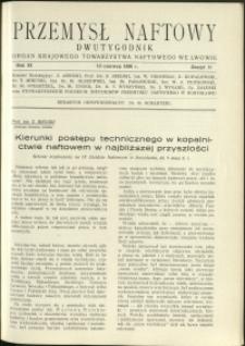 Przemysł Naftowy : 1936 : nr 11