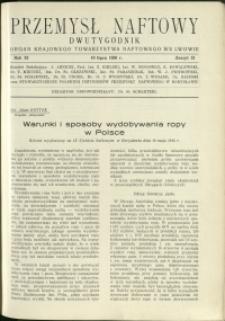 Przemysł Naftowy : 1936 : nr 13